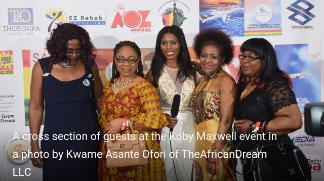 Female guests at Koby Maxwell event.