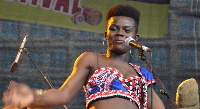 Wiyaala in stage performance